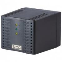 Стабилизатор Powercom TCA-1200 черный, ступенчатый, 600Вт, вход 220В+/-20%, выход 220V +/- 7%