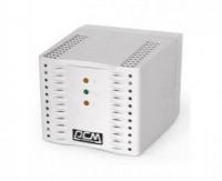 Стабилизатор Powercom TCA-2000 белый, ступенчатый, 1000Вт, вход 220В+/-20%, выход 220V +/- 7%