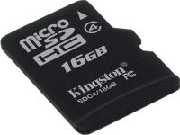 Карта пам'яті microSDHC, 16Gb, Class4, Kingston, без адаптера (SDC4/16GBSP)