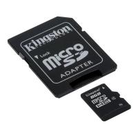 Карта пам'яті microSDHC, 8Gb, Class4, Kingston, SD адаптер (SDC4/8GB)