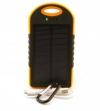 Універсальна мобільна батарея 12000 mAh, Power Bank, Black / Orange, Solar (3360)