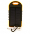 Универсальная мобильная батарея 12000 mAh, Power Bank, Black/Orange, Solar (3360)